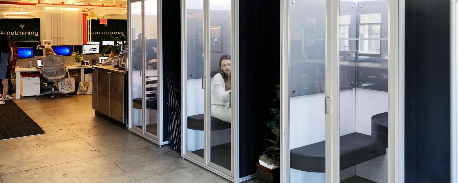 >Can 'phone booths' solve the problem of open-plan offices?