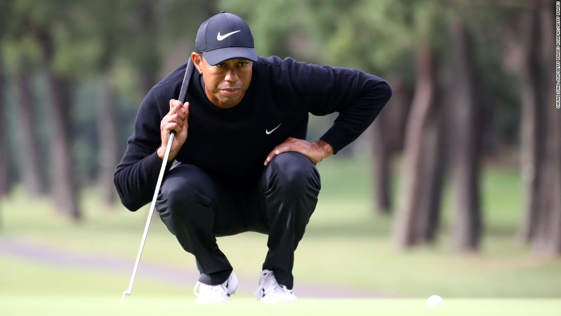 Tiger Woods recovers from 'ugly' start to share lead at Zozo Championship
