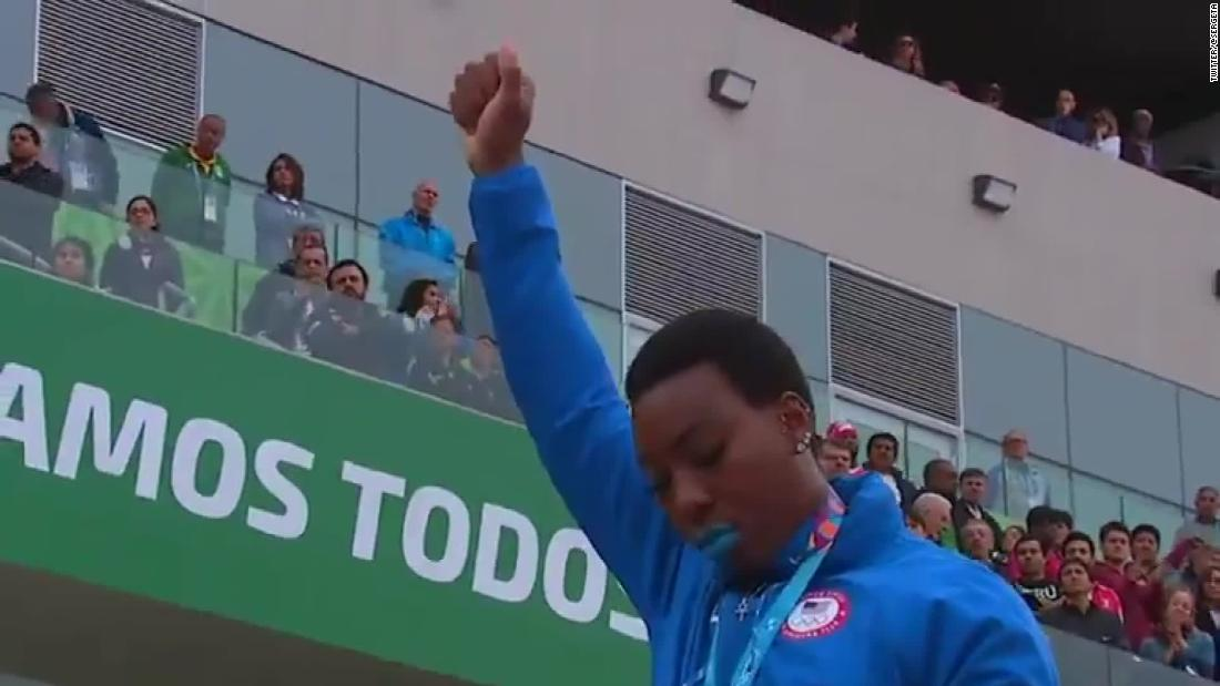 American gold medalists reprimanded after protests at Pan American Games