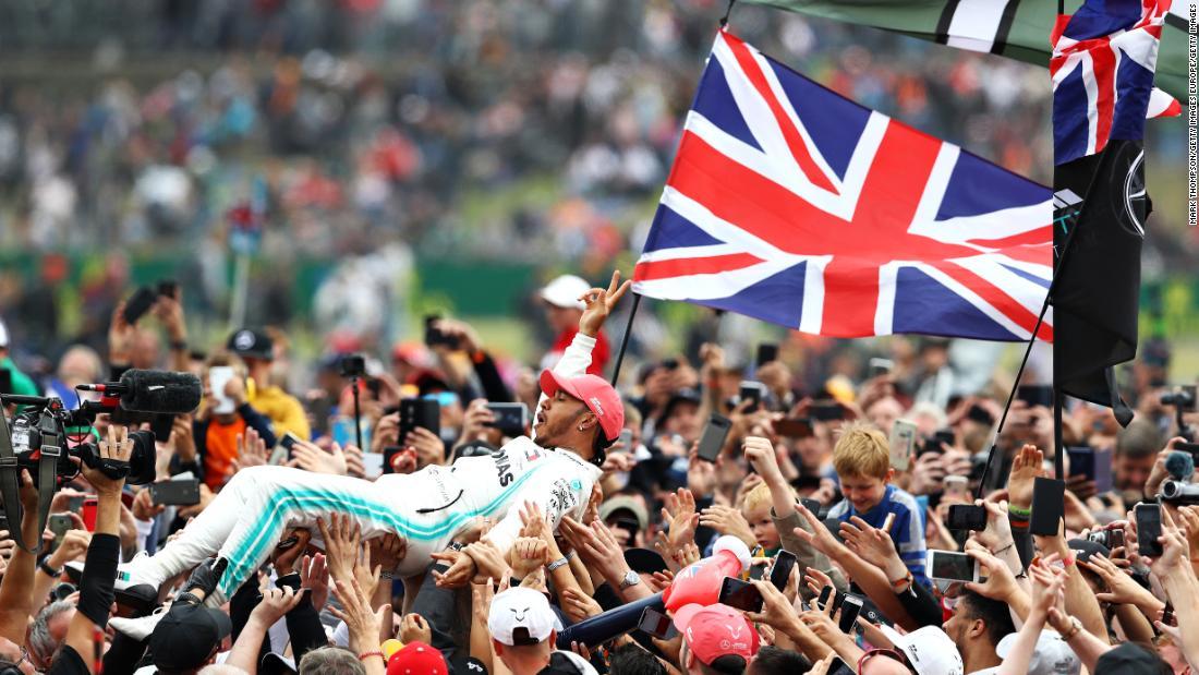 'Silverstone, I love you': Lewis Hamilton wins record sixth British Grand Prix