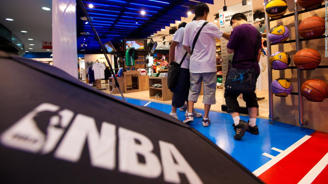 All of the NBA's official Chinese partners have suspended ties with the league