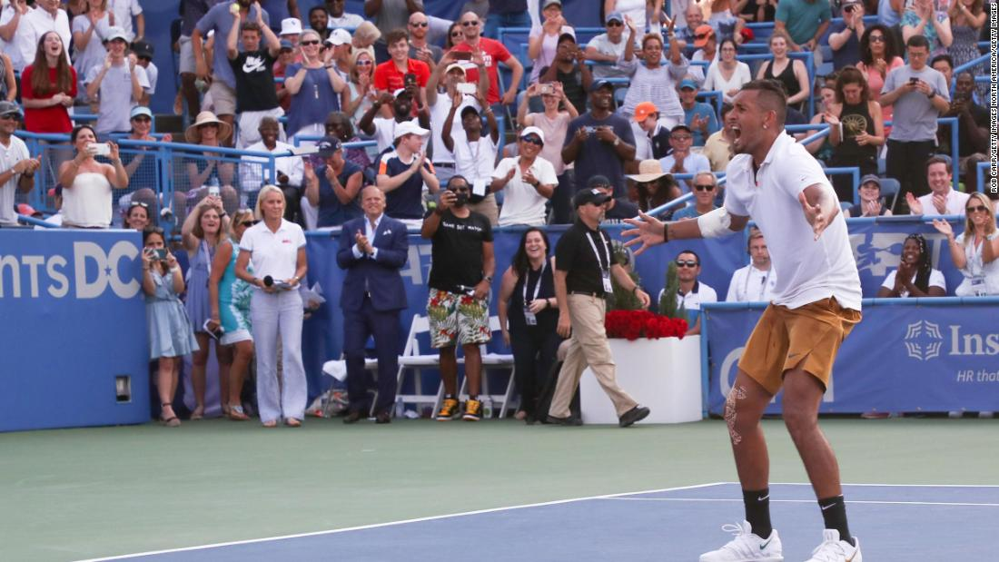 Nick Kyrgios enjoys one of the 'favorite weeks' of his life by winning sixth title