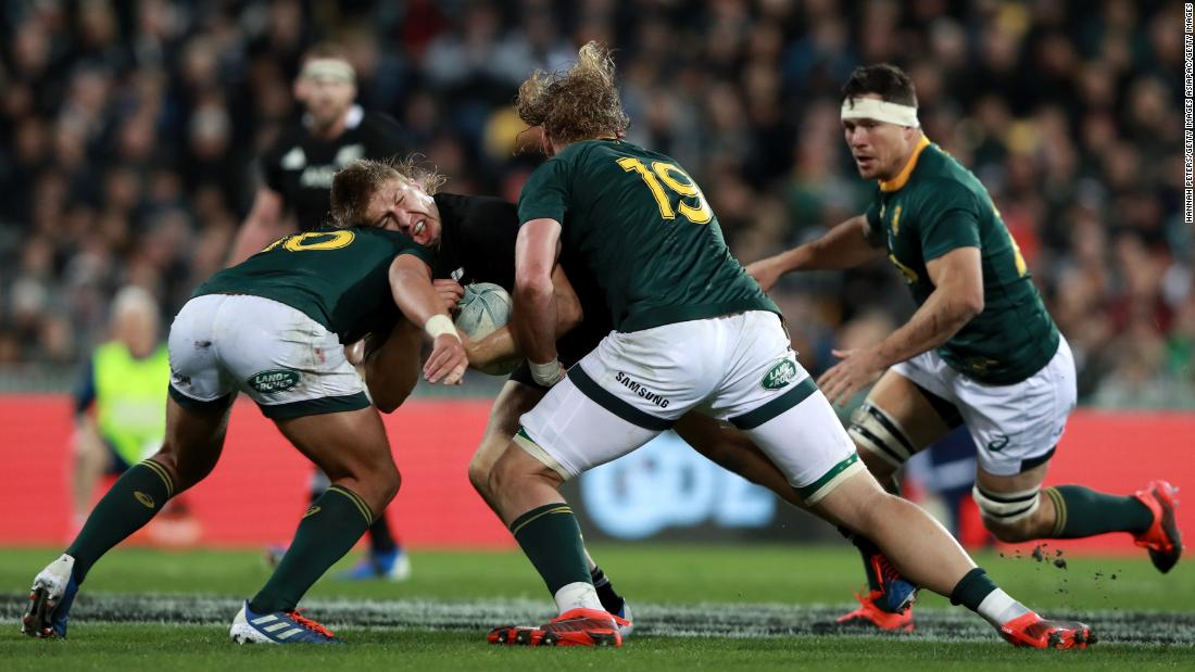 South Africa stuns All Blacks with last-gasp try to tie game in Wellington