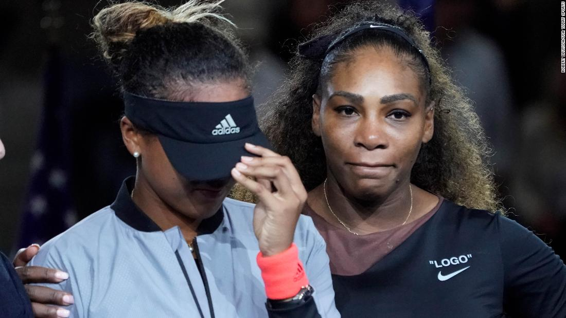 In her first match back at Arthur Ashe Stadium, Serena Williams dominates Maria Sharapova in US Open 1st round