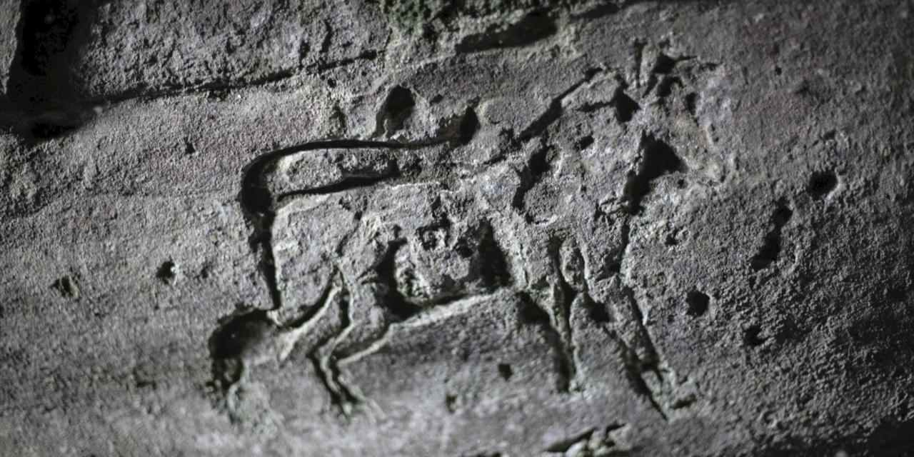 These ancient Scottish cave drawings may soon vanish