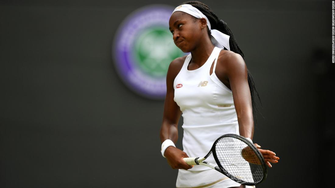 Cori 'Coco' Gauff, 15, loses at Wimbledon to end magical run