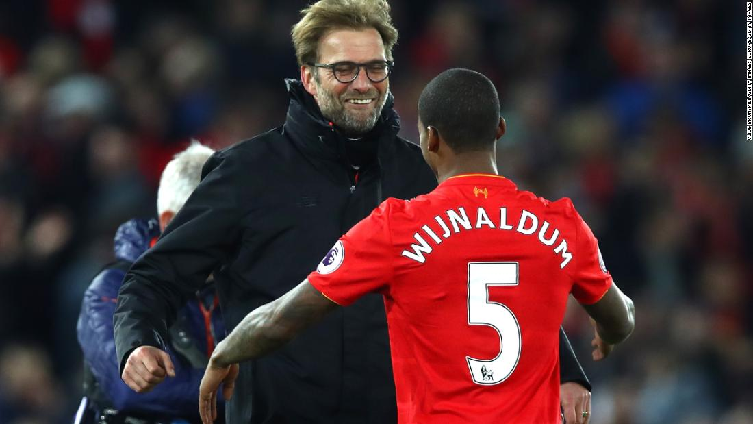 Liverpool star Georginio Wijnaldum credits Klopp for developing his game